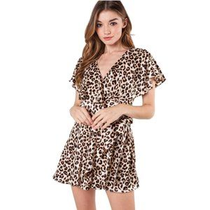 NWT DO + BE Leopard Romper